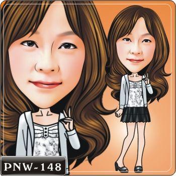 小資女孩Q版畫