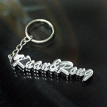 文字造型鑰匙圈