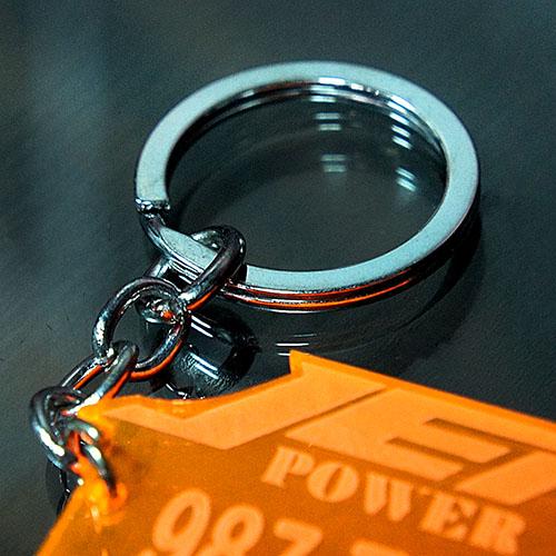 透明壓克力車牌鑰匙圈