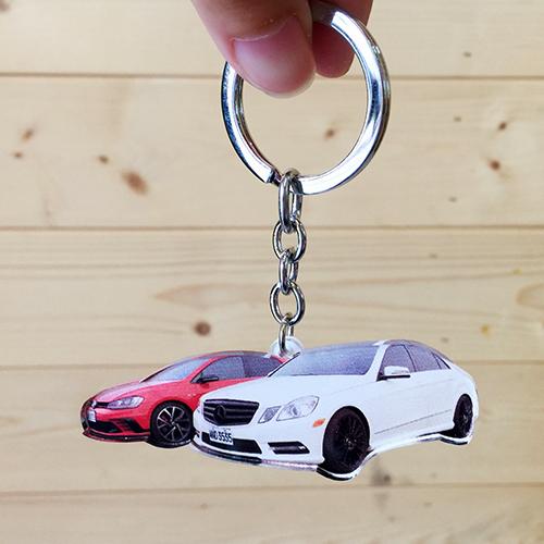 車子鑰匙圈彩印