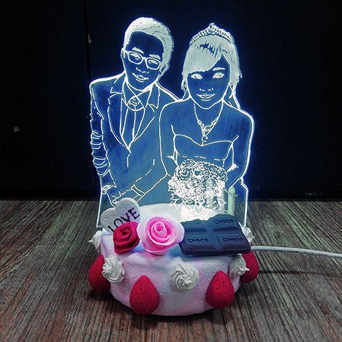 雕刻彩色夜燈