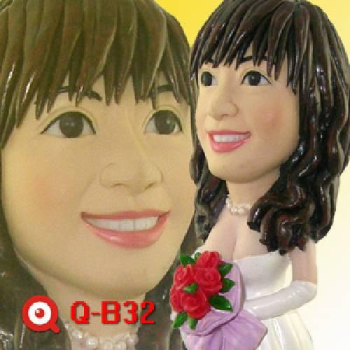 Q-B32-新娘禮服公仔