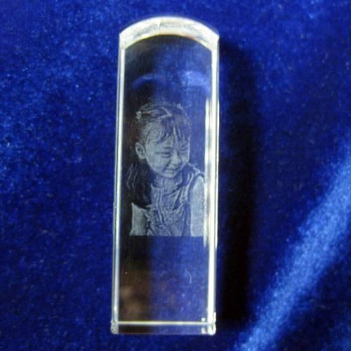 水晶内雕印章,不含印面字雕刻