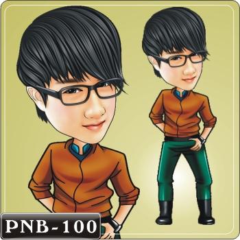 男生人像q版漫画pnb-100