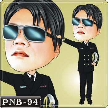 男生人像q版漫画pnb-94(机长q版画)