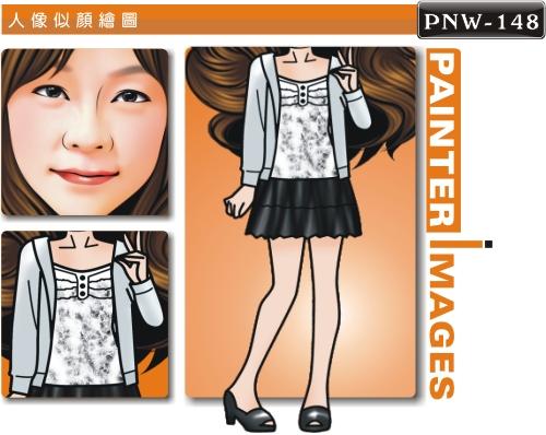 女生人像q版漫画pnw-148