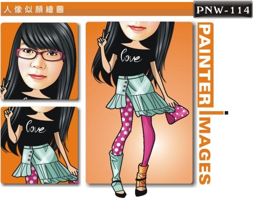 女生人像q版漫画pnw-114