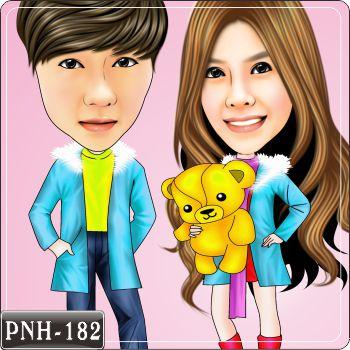 q版双人情侣漫画 pnh-182 q版画是非常有个性化的个人风格,您可以