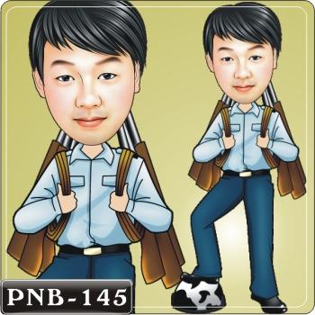 空军q版画.男生人像q版漫画pnb-145